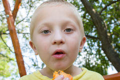 Boy opened his mouth Royalty Free Stock Photography