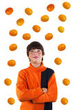 The boy with oranges Royalty Free Stock Photos
