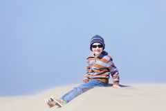 Boy in oregon Royalty Free Stock Images