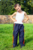 Boy outdoor Royalty Free Stock Photo