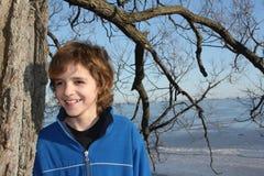 Boy outdoors Stock Photos