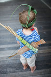 Boy outdoors Royalty Free Stock Photo
