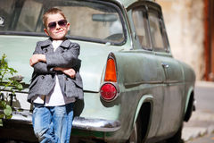 Boy outdoors Royalty Free Stock Images