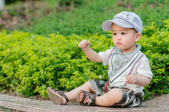 Boy outdoors Stock Photography