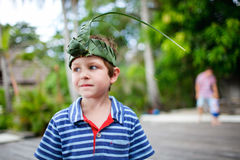 Boy outdoors portrait Stock Photography