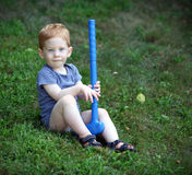Boy outside Royalty Free Stock Photo