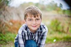Boy Outside Stock Image