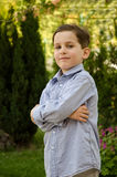 Of Boy Outside A House Royalty Free Stock Photos