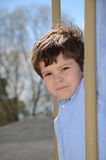 Boy Outside Stock Photography