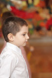Boy over color blur Royalty Free Stock Photography