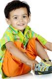 Boy over white background Stock Photos