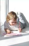 Boy paint Stock Image