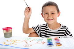 Boy with paint Stock Image