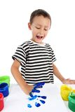 Boy with paint Royalty Free Stock Image