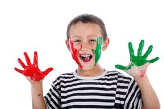 Boy with paint Royalty Free Stock Images