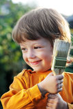 boy with paint brush Royalty Free Stock Photography