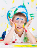 Boy painted Royalty Free Stock Images