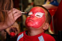 Boy painted for holiday Royalty Free Stock Photos