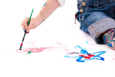 Boy painting Royalty Free Stock Photography