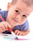 Boy painting Stock Photo