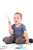 Boy painting Royalty Free Stock Photo