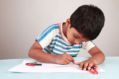 Boy painting Royalty Free Stock Photos