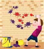 Boy painting Royalty Free Stock Image
