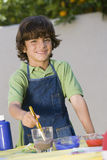 Boy Painting Stock Image