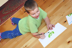 Boy painting Royalty Free Stock Image