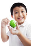 Boy Painting An Easter Egg Royalty Free Stock Photo