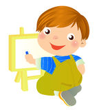 Boy painting Stock Photography