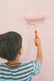 Boy is painting Stock Photo