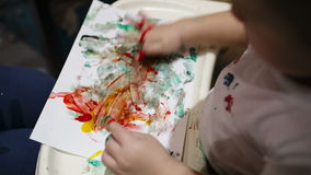 Boy painting. Stock Images