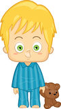 Boy in Pajamas Stock Image