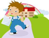 Boy with A paper Royalty Free Stock Photography