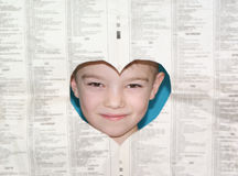 Boy with paper Royalty Free Stock Photography