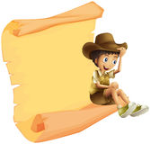 A boy and a paper sheet Royalty Free Stock Images