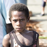 Boy Papua New Guinea with painted crocodile skin Stock Photography