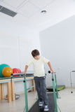 Boy in parallel bars Royalty Free Stock Photos