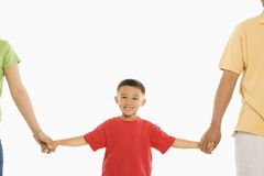 Boy with parents. Royalty Free Stock Images