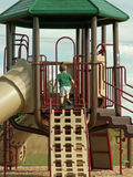 Boy at the park. Little boy playing at the playground Stock Photography