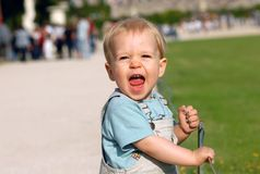 The boy in park Stock Images