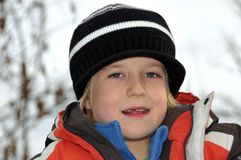 Boy in park. Young boy with missing tooth Stock Photography