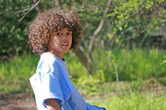 Boy in the park Stock Photography