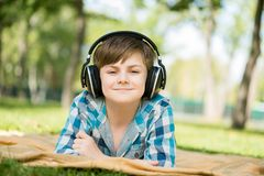 Boy in park Royalty Free Stock Photos