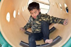 Boy in the park. This photo is shot in Hiroshima Japan Stock Photos