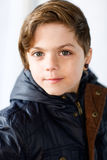 Boy in parka Royalty Free Stock Photos