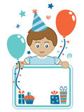 Boy party card Royalty Free Stock Images