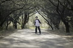 Boy on a Path Royalty Free Stock Image