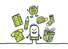 Boy patterned accessories Stock Photography